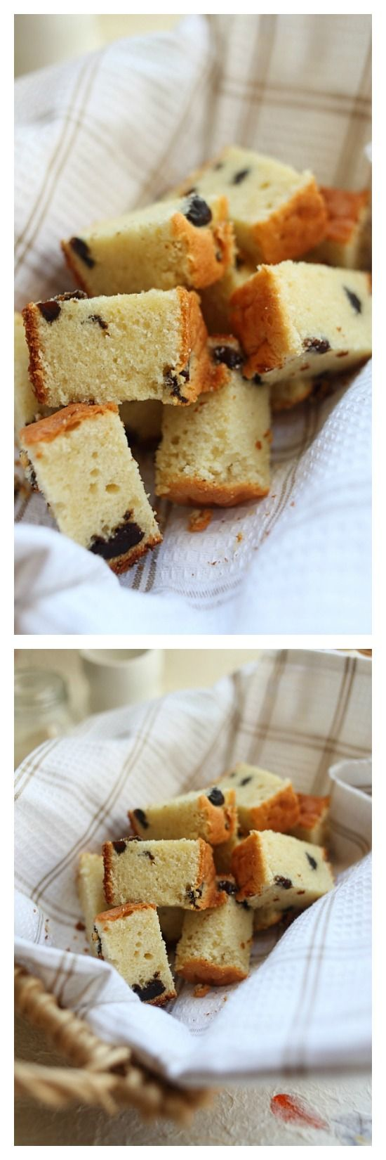 Brandy butter cake, YES! Rich, moist, sweet, and super buttery butter cake with splashes of brandy plus dried prunes. You just have to make this. http://rasamalaysia.com