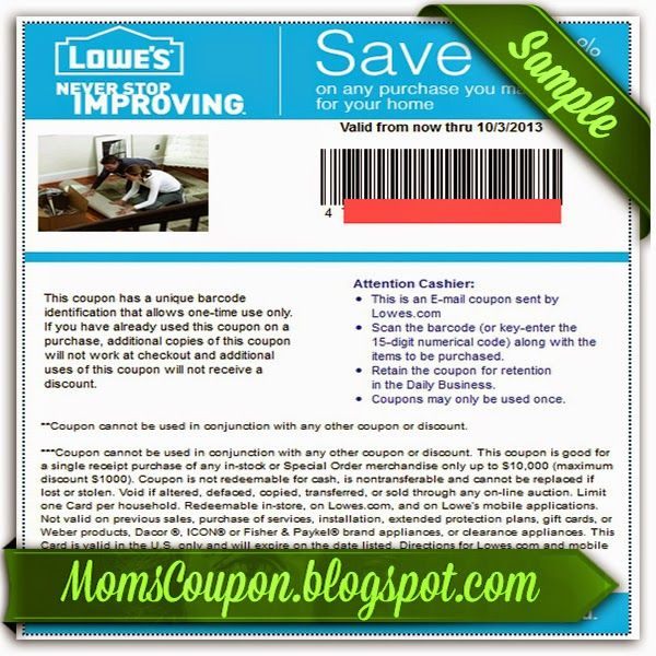 Lowes 10 off online promo code 2015