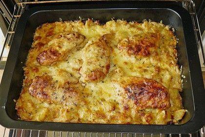 Bratkartoffelauflauf mit Schnitzel – Tikky