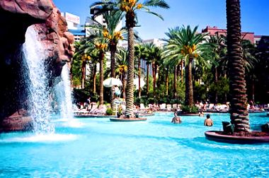 This is where I got married!  Not IN the pool but really close to it!  Flamingo resort in Las Vegas!