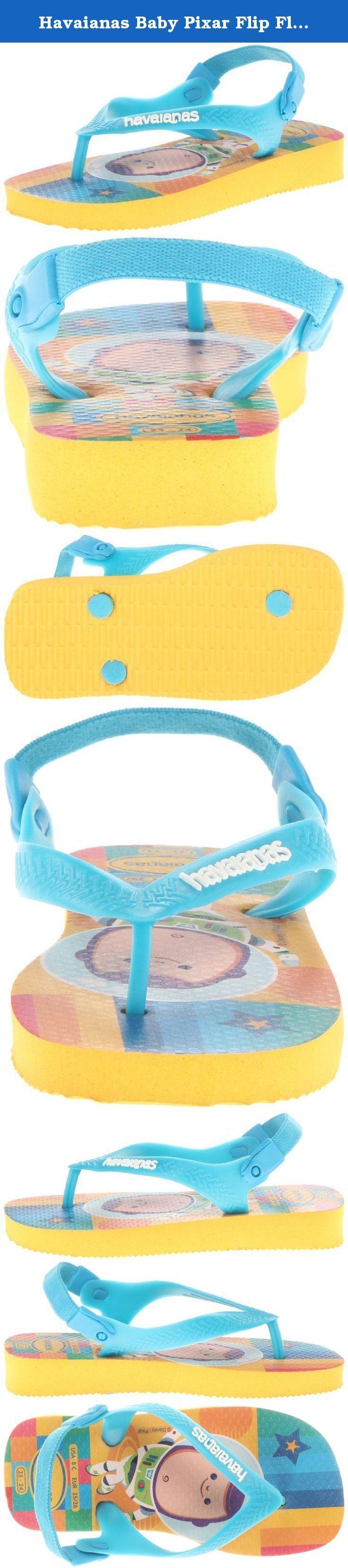 Havaianas Baby Pixar Flip Flop (Toddler),Banana Yellow,19 BR (5 M US Toddler). Havaianas - Baby Pixar Sandal- Banana Ylw-19.