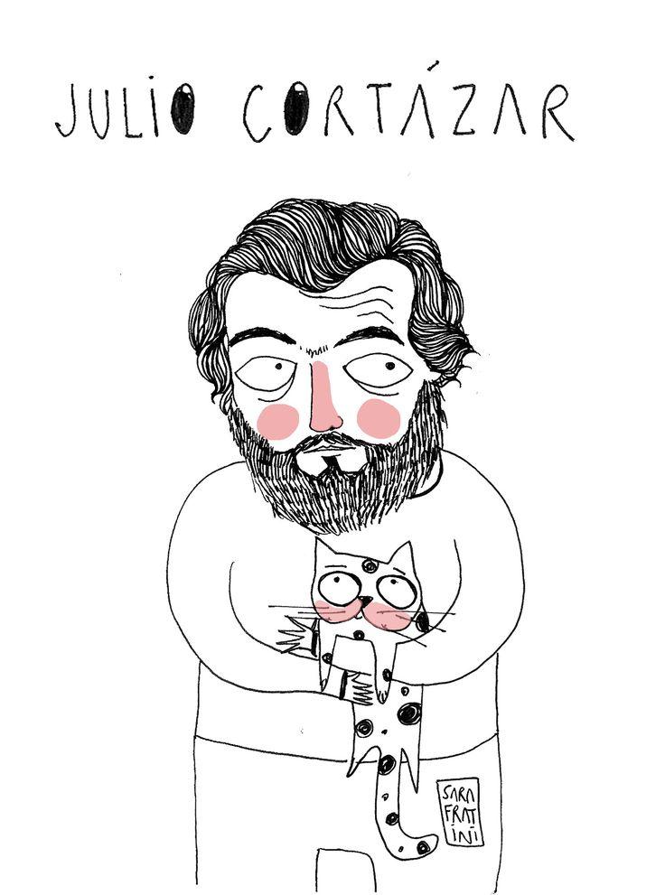 ©SaraFraniti Un homenaje a mi querido Julio Cortázar, el amante de las letras y los gatos.