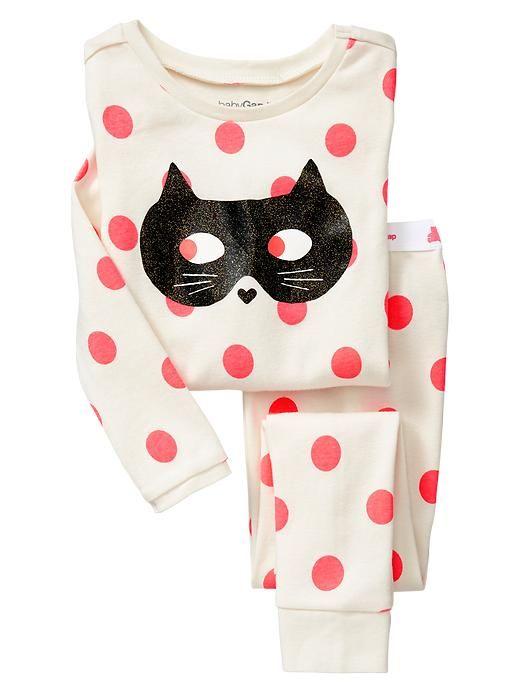 sweet little masked kitty pjs