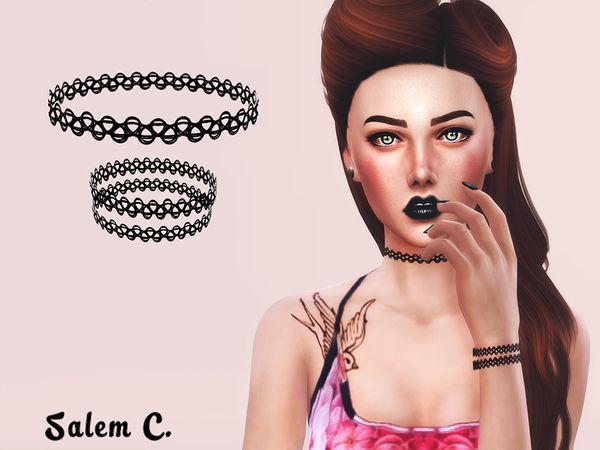 Salem C.'s Tattoo Choker and Bracelet