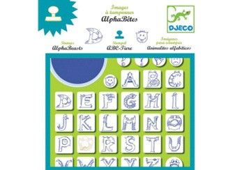 Kreatives Set ABC-Tier Stempel