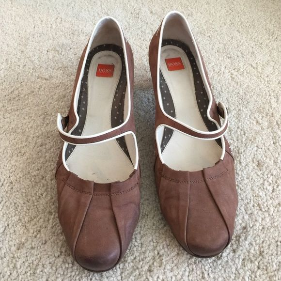 Brown shoes Hogo Boss Italy Leather Cool shoes very stylish Hugo Boss Shoes