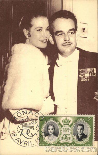 Grace Kelly en prins Rainier van Monaco Royalty Maximumkaarten
