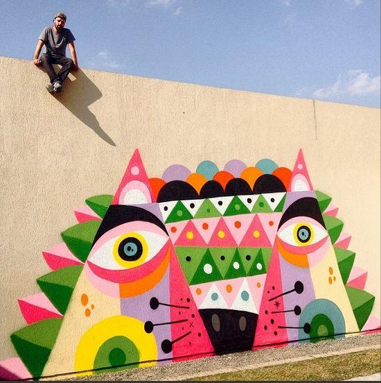 Street art   Mural by Ruben Sanchez