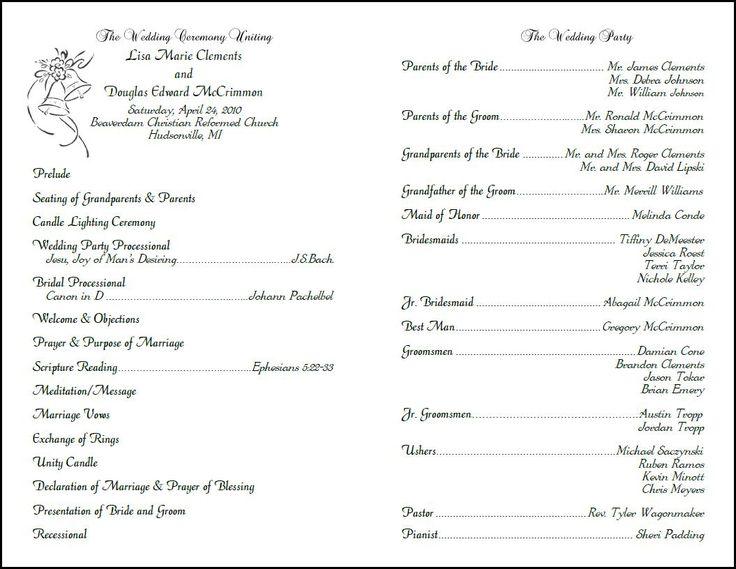 Wedding Vow Renewal Invitation Wording Samples: Custom Design, Wedding Programs, Programs For Weddings