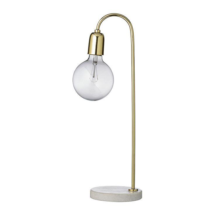 Buy bloomingville table lamp marble brass amara