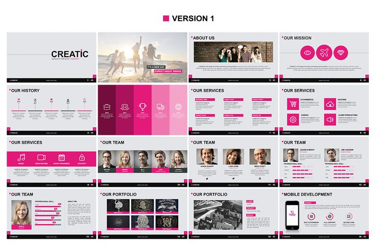 Creatic - Powerpoint Template by SlideMore on @creativemarket