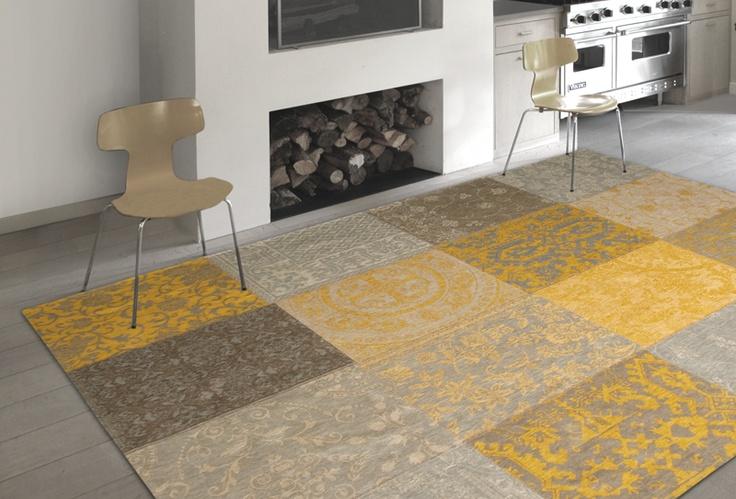 Dit is één van de meer dan 30 supergave vintage karpetten die binnenkort via www.mixedcolours.nl te bestellen is in 8 verschillende maten. Deze, de Multi yellow, is natuurlijk prachtig in dè kleur van de winter 2012: okergeel.