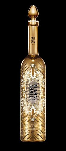 Tigre Blanc Vodka #packaging #gold