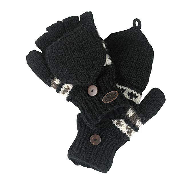 Turtle Fur Womens Nepal Tyler Mitten Gloves,Black,One Size