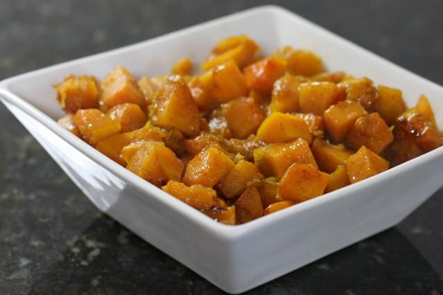 This is a sweet butternut squash recipe that should please even the squash-haters in your family. It's a great tasting, lightly spiced butternut squash dish with maple syrup, butter, and brown sugar.