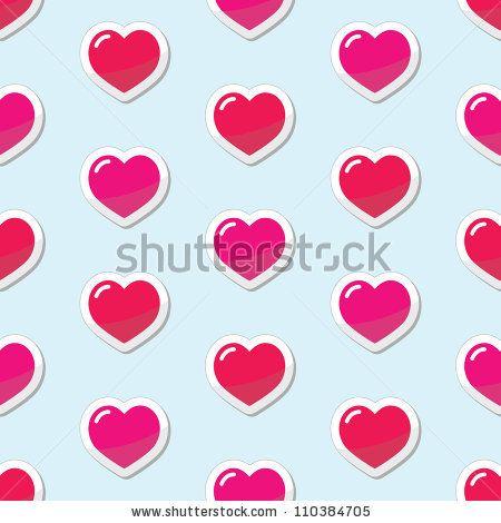 Cute heart pattern fo Valentine's Day by RedKoala #seamless @Adrienne Raptis