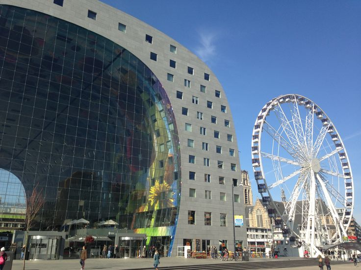 Markthal en reuzenrad/Rotterdam2016(RR)
