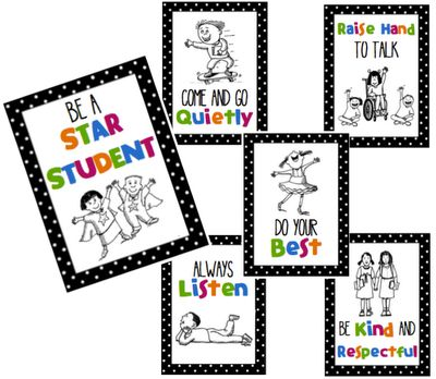 Be a Star Student! Positive class rules. Behavior chant/free visuals.