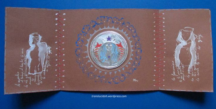 Collage de envoltorio de chocolatina y rotuladores POSCAs en tríptico (y pin 3). Maculino y femenino en el mundo. Sigue en https://translucidoh.wordpress.com/2015/08/17/en-el-mundo-triptico/