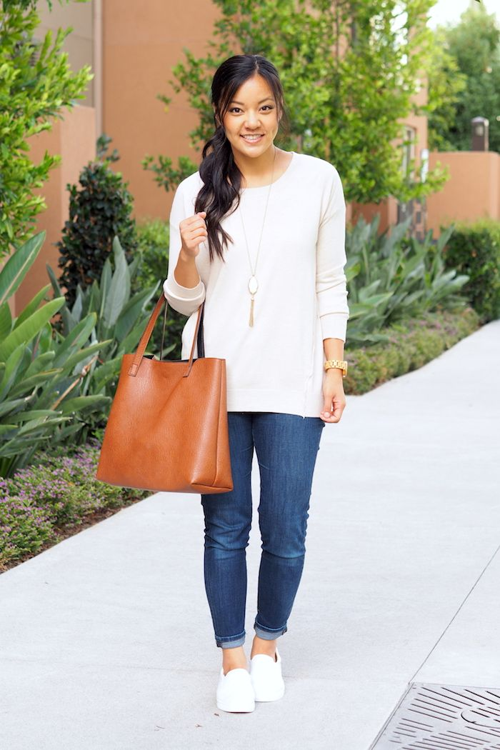 White UGG Sneakers Outfit