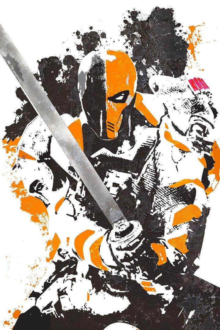Death Stroke Poster Slade Joseph Wilson DC by GoFigureArtStudio