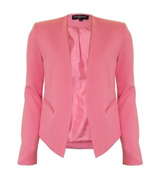 Carraig Donn   Marc Angelo Tailored Jacket - Pink. This classic, beautifully tailored blazer jacket boasts a gorgeous collarless design and a fitted style €49.95