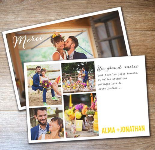 meer dan 1000 idee n over carte de remerciement mariage op pinterest huwelijks bedankjes. Black Bedroom Furniture Sets. Home Design Ideas