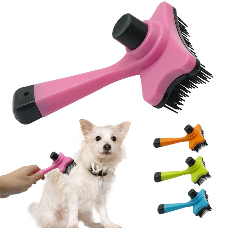 Self Clean Dog Brush Puppy Hair Fur Grooming Shedding Comb Tool For Long & Short Hair Dogs and  Cats  4 Colors Avaliable // Worldwide FREE Shipping //     #petsupplies