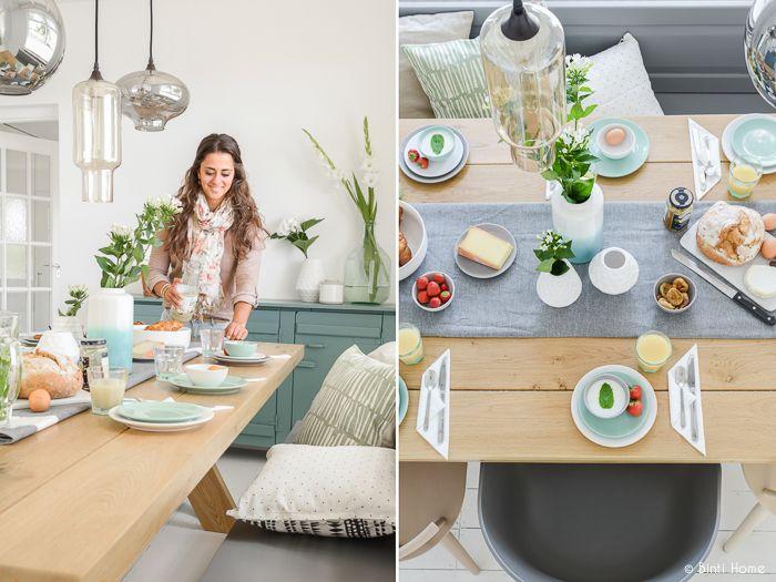 Deze tafel is echt mooi gedekt en wat zijn die foto's mooi!