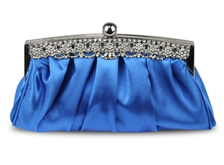 Vivian Royal Blue Clutch Bag