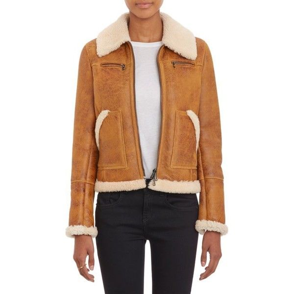 Barneys New York Lamb Shearling Zip-Up Jacket (49.185 RUB) ❤ liked on Polyvore featuring outerwear, jackets, nude, zip up jacket, beige jacket, zipper jacket, shearling jacket and pocket jacket