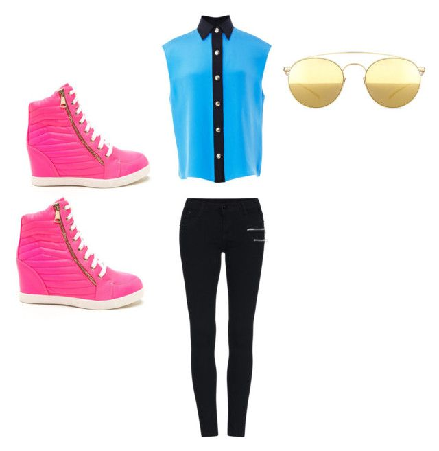 """Untitled #5"" by imperfectjustsoyouno ❤ liked on Polyvore featuring FAUSTO PUGLISI and Mykita"