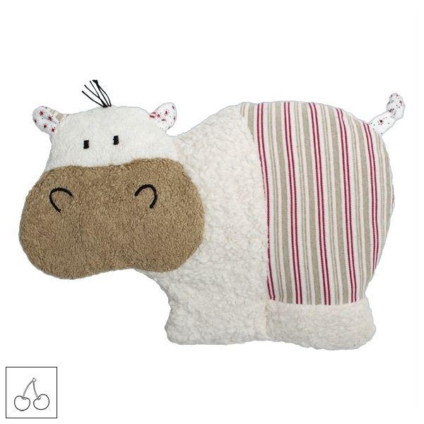 Doudou Bouillotte Noyaux Cerise Efie Hippopotame Coton Bio - Ekobutiks® l ma boutique écologique | Doudou Efie