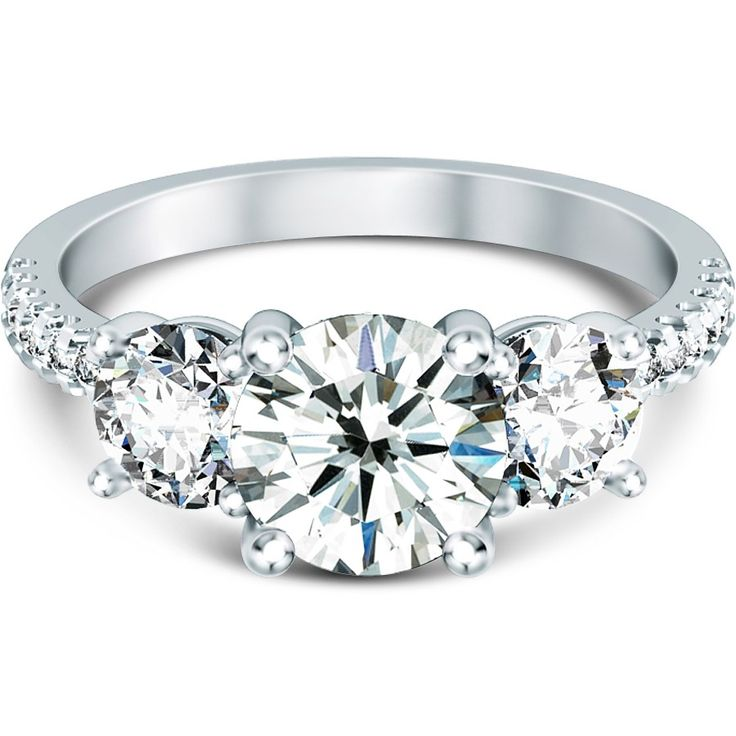 Stuller Three Stone Side Stones: Diamond Engagement Ring With Side Stones