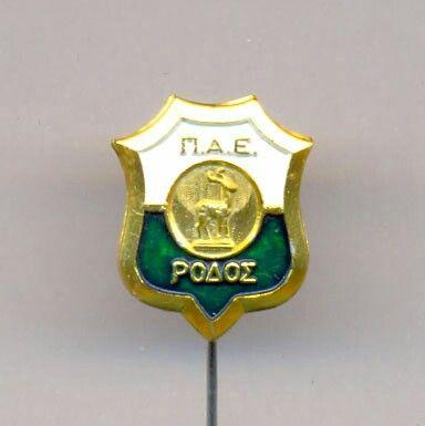 AS Rodos FC Pin Deer Ελάφι Logo Λογότυπο Ρόδος Football Ποδόσφαιρο Greece Ελλάδα