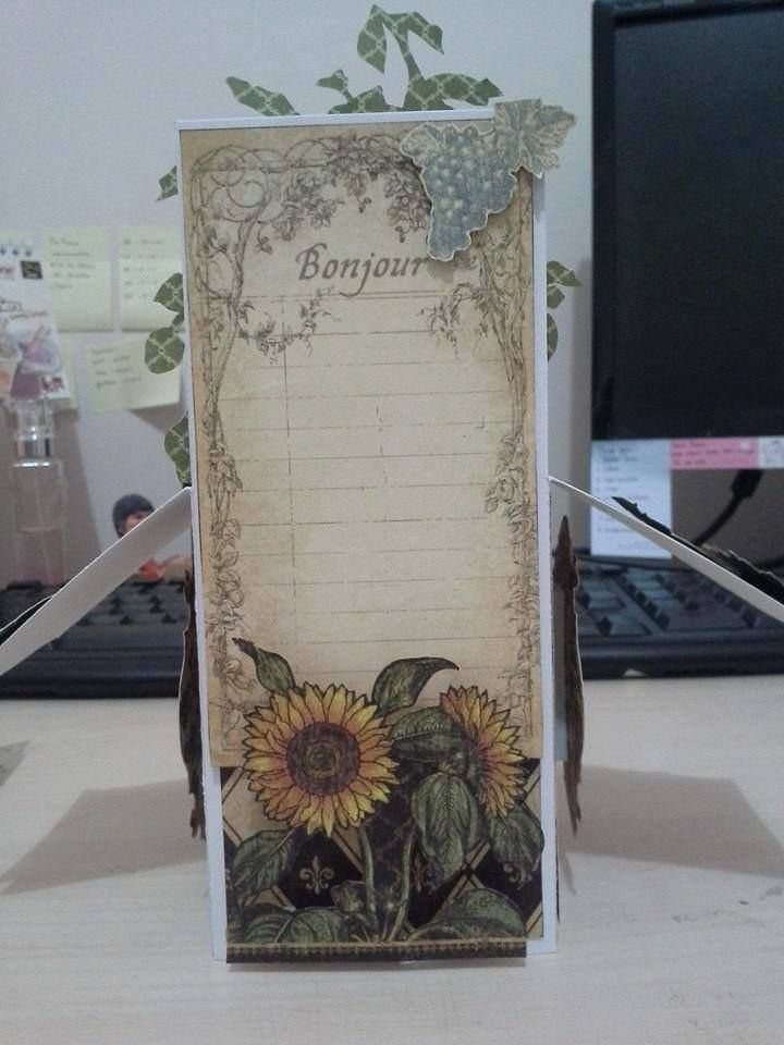 "pop up card using G45 paper ""French Country"""