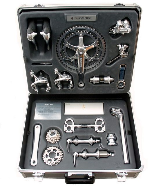 Shimano Dura-Ace 25th Anniversary Groupset by La Bicicletta Toronto, via Flickr
