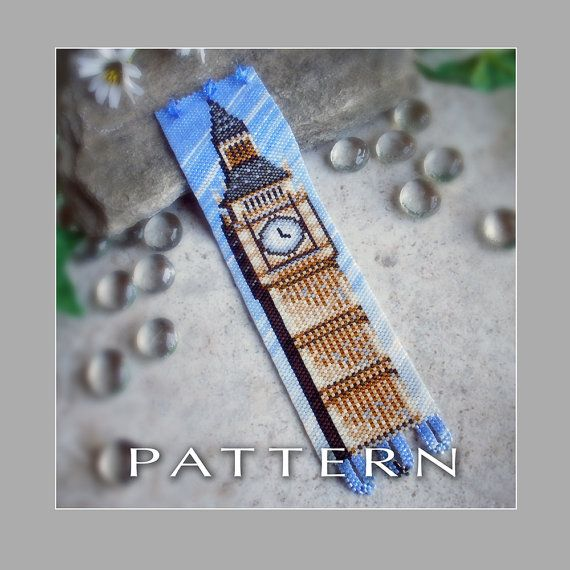 Peyote Beading Pattern : Big Ben Bracelet Cuff - Instant Download