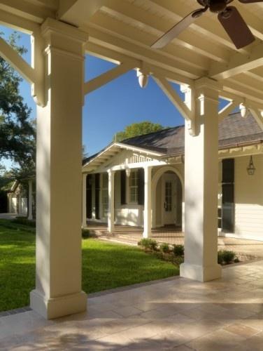 Ideas for dressing up porch pillars