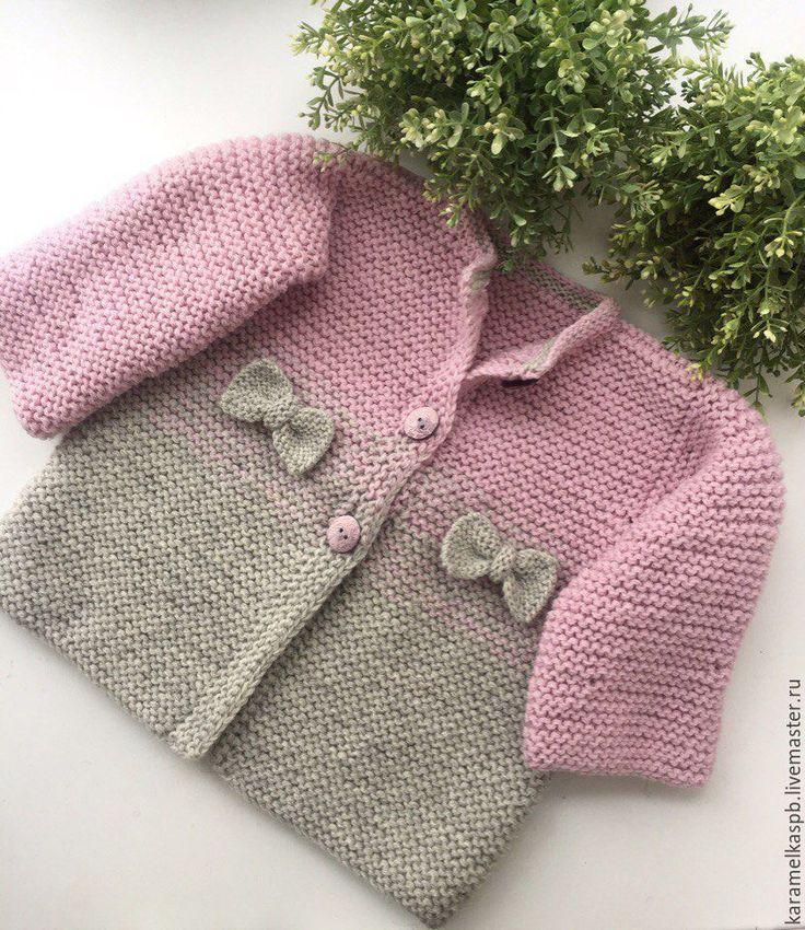 Купить Вязаное пальто для девочки. Тёплый кардиган - комбинированный, пальто, пальто вязаное, пальто для девочки