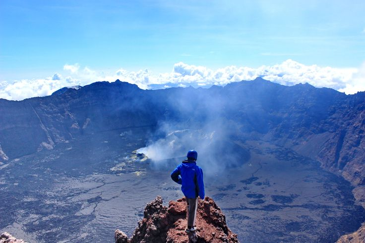 Greath Creater Of Raung, View Top. Highest Peak 3344 Mtrs