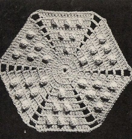 Crocheting motif for a jacket