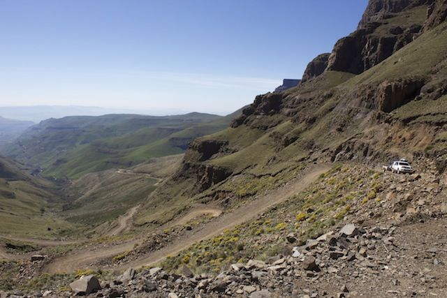 Sani Pass... near the top at the Lesotho border
