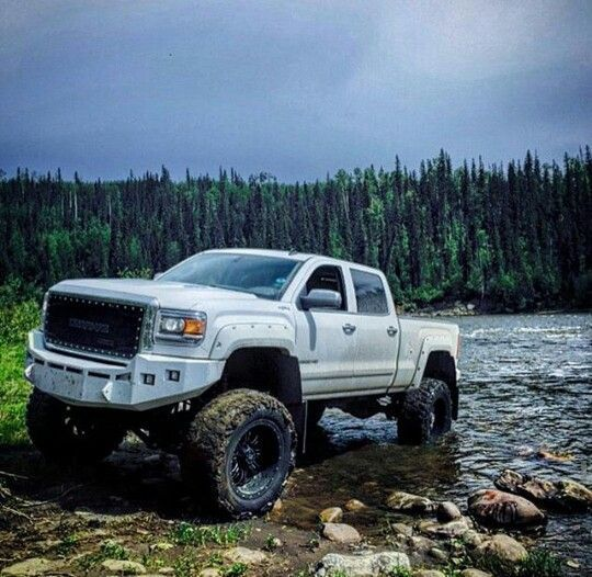For On and Off Road - Pickups are highly versatile and can get you through any environment you can imagine. There's no chance of getting swept away or stuck in the mud when you're behind the wheel of a #big_truck.