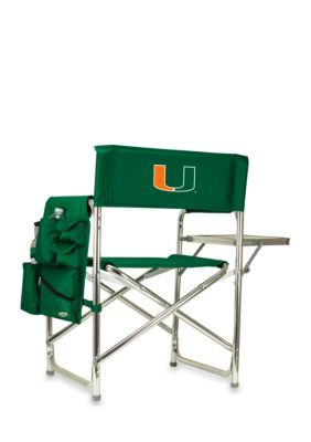 Picnic Time  Miami Hurricanes Sports Chair - Green - One Size