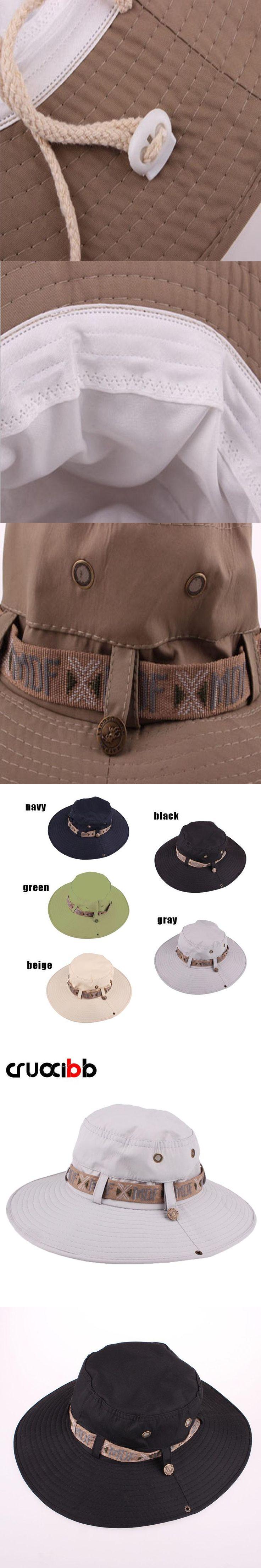 CRUOXIBB Summer Fashion Men's Sun Hat Bucket Hats Fishing Summer Hat For Men UV Protection Panama Hats Bone Chapeau Cap