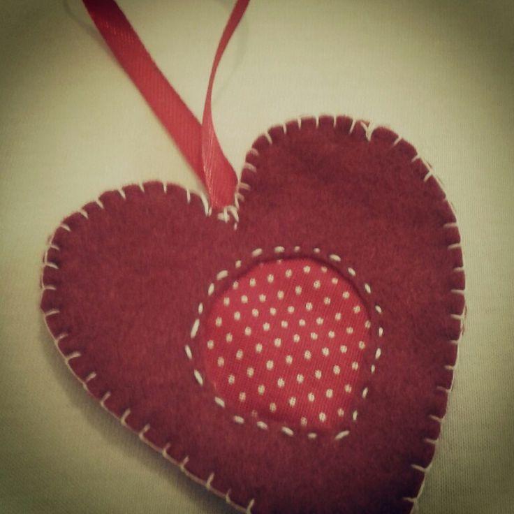 Imperfect felt heart