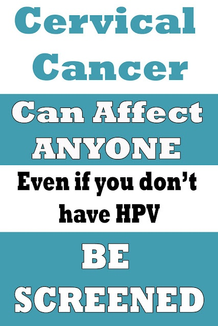 Cervical Cancer can affect any woman; Even if you are not at risk for the HPV virus!! Play it safe, Have your yearly screening!  <3 Protect your cork :-) <3