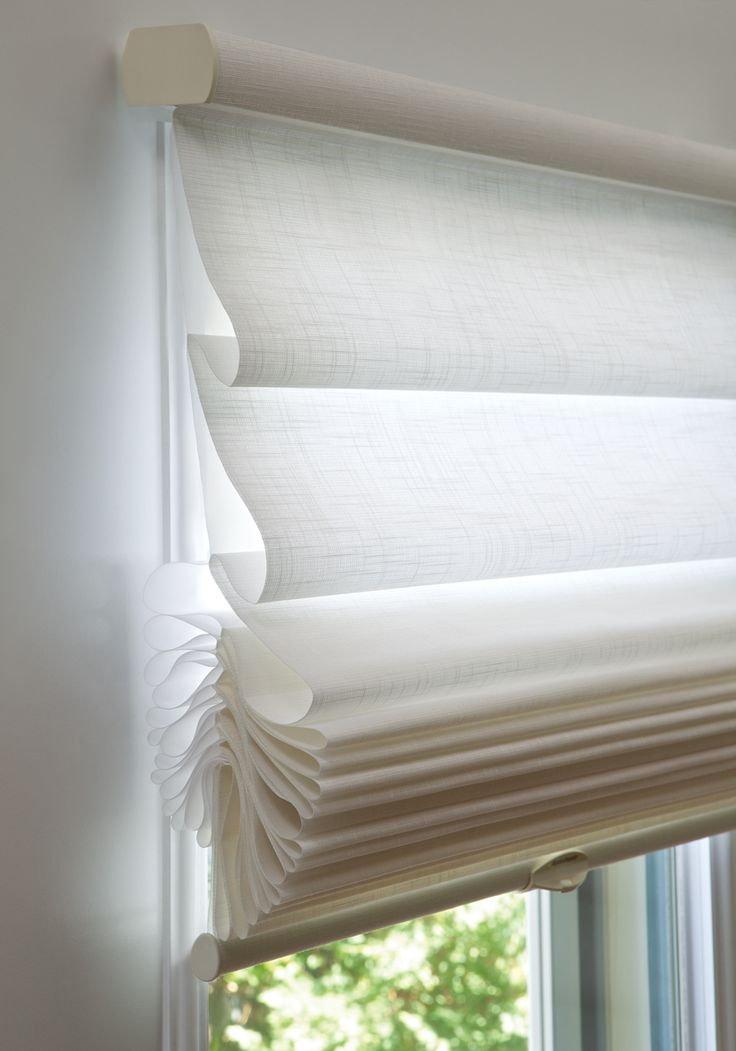 Sheer Romaqn Shades Vignette Tiered Roman Shades By