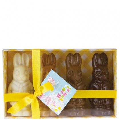 The 36 best easter chocolates images on pinterest easter chocolate a shipper of 9 packs of four little easter bunnies this product is made from negle Image collections